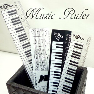 定規 鍵盤柄 楽譜柄 スケール ものさし おもしろ 雑貨 文房具 音楽 ピアノ sk-001