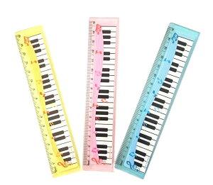 定規 鍵盤柄 楽譜柄 スケール ものさし おもしろ 雑貨 文房具 音楽 ピアノ sk-002