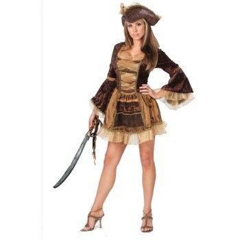 ハロウィン 海賊 衣装 大人 女性用 コスプレ コスチューム レディース パイレーツ 茶色 セクシー 仮装 服
