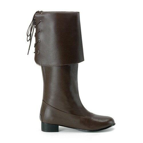 ブーツ メンズ 茶色 ブラウン 海賊 ブーツ 大きいサイズもある パイレーツ・オブ・カリビアン 生命の泉 ジャックスパロウ