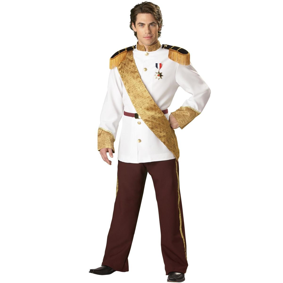 ハロウィン シンデレラ プリンス・チャーミング コスプレ ディズニー 大人 男性 王子様 衣装 コスチューム 仮装 制服 貴族 白 ドレス