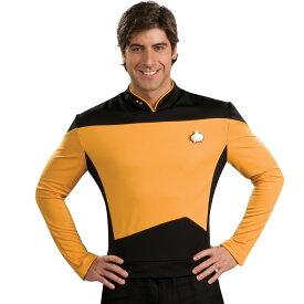 スタートレック コスチューム 映画スタートレック コスチュームTNG ゴールドシャツ デラックス 大人用