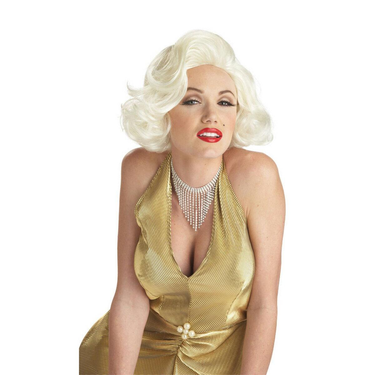 マリリンモンロー ウィッグ かつら 大人 女性用 海外 歌手 有名人 女優 コスプレ 仮装 グッズ