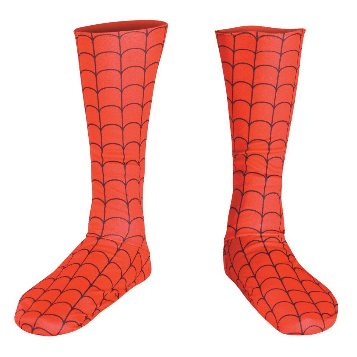 在庫処分市 ハロウィン スパイダーマン グッズ コスチューム コスプレ 大人用 ブーツカバー グッズ アメイジングスパイダーマン グッズ ヒルナンデス あす楽