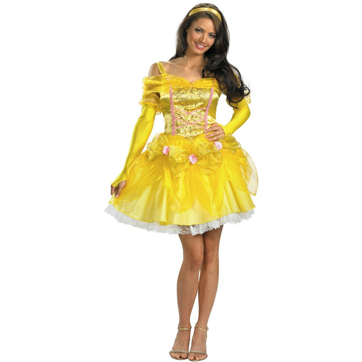 ハロウィン ベル ドレス 衣装 美女と野獣 コスプレ コスチューム ディズニープリンセス 大人 女性用 レディース 仮装 グッズ