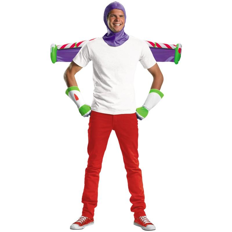 ハロウィン トイストーリー コスプレ バズライトイヤー コスチューム 大人 男性用 ジェットパック 手袋 かぶりもの セット ディズニー 衣装 グッズ