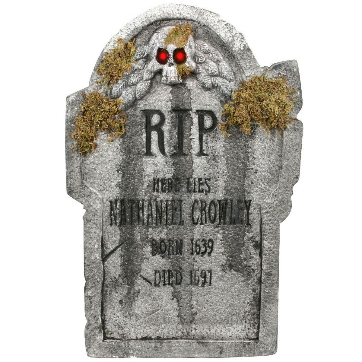 在庫処分市 ハロウィン デコレーション 飾り 装飾 墓石 インテリア ナサニアルよ安らかに眠れ あす楽