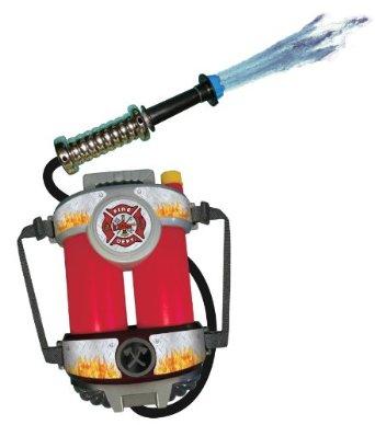 水鉄砲 背負える リュック バックパック 子供 幼児 プール おもちゃ 消防士 ホース あす楽
