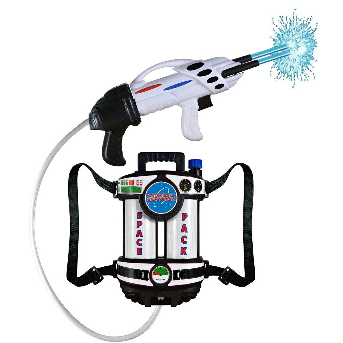 水鉄砲 よく飛ぶ 水遊び 飛距離 9m 強い 強力 宇宙飛行士 グッズ 背負える水鉄砲 子供 おもちゃ プール 海 夏 あす楽