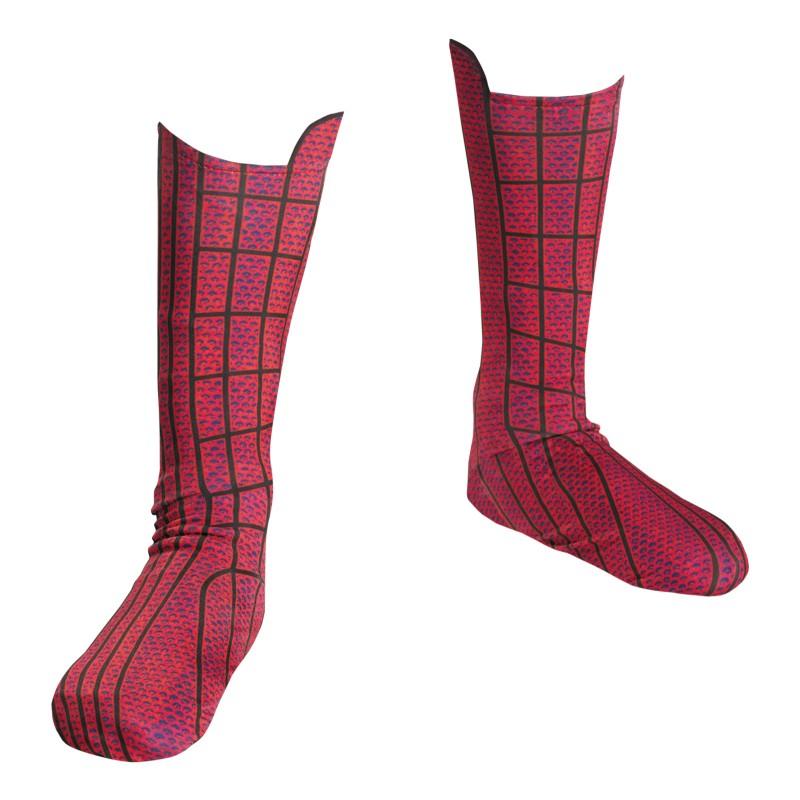ハロウィン スパイダーマン コスプレ 子供 キッズ ソックス 靴下 シューズカバー ブーツカバー アメイジング・スパイダーマン コスチューム 衣装 小道具 グッズ