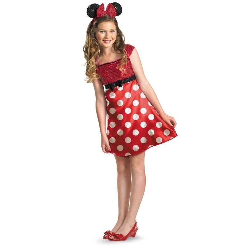 ハロウィン ミニーマウス コスプレ コスチューム ワンピース ドレス ティーン 子供 女の子用 ディズニー 公式ライセンス ファッション アパレル 洋服 衣装 あす楽