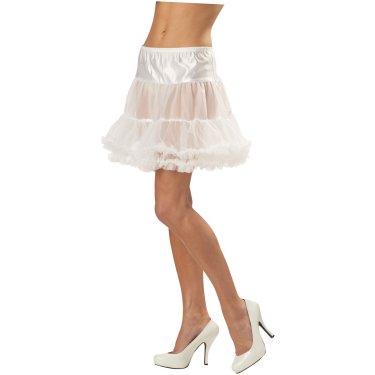 在庫処分市 ハロウィン プレゼント ペチコート 白 白のラッフルペチコート 大人用 ハロウィン コスチューム あす楽