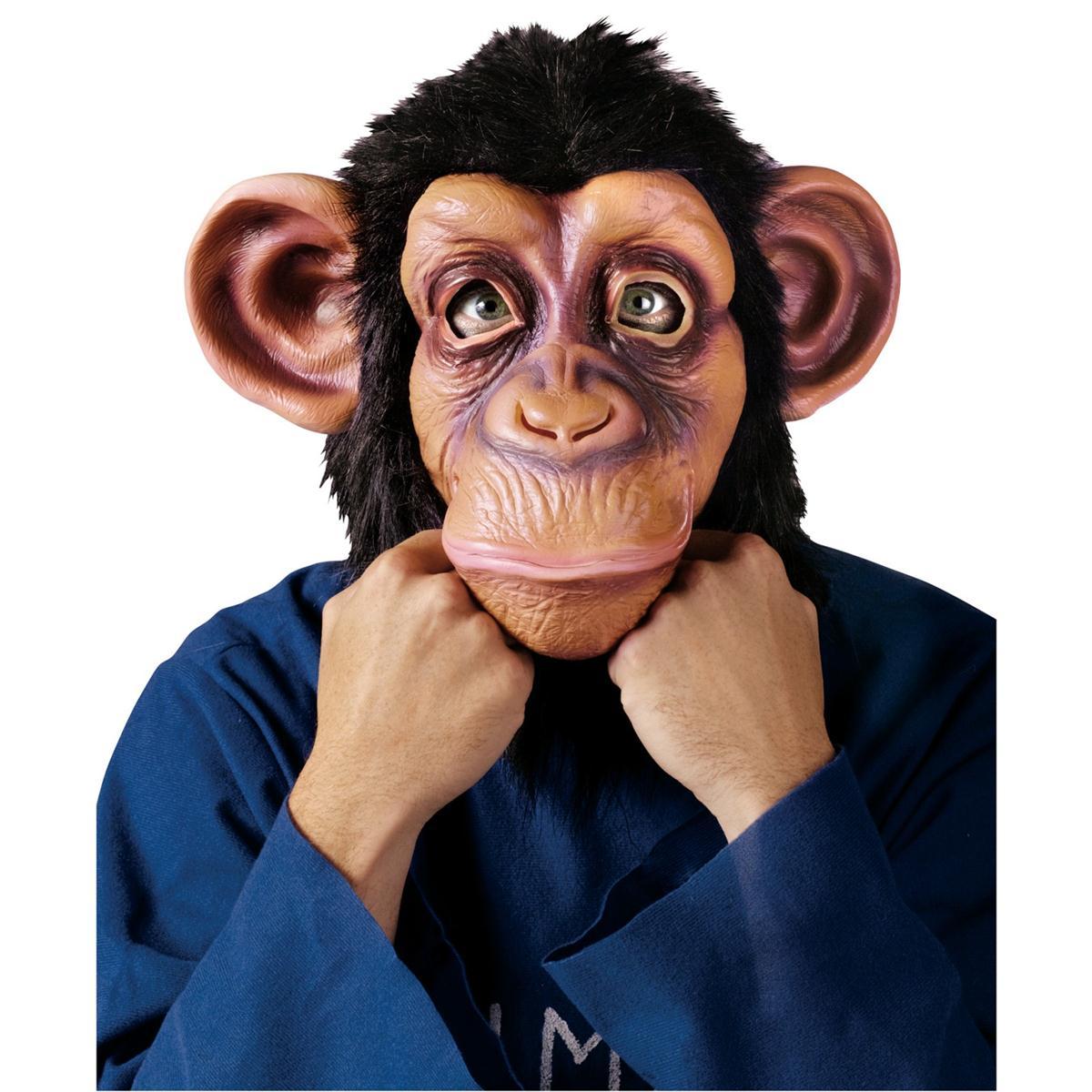 チンパンジー マスク 大人用 動物 かぶりもの 猿 サル お面 仮面 コスプレ ハロウィン 雑貨 グッズ