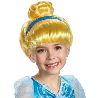 Halloween costumes kids costumes Disney Princess children's wig wigs Cinderella