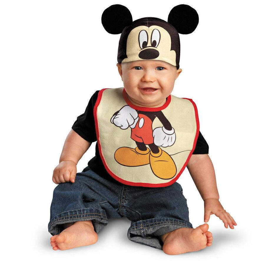 在庫処分市 赤ちゃん ディズニー コスチューム ハロウィン グッズ アクセサリー ディズニー ハロウィン 赤ちゃん ミッキーマウス よだれかけと帽子のセット あす楽