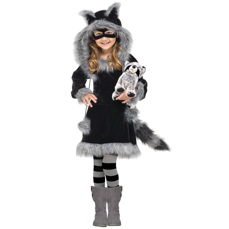 ハロウィン プレゼント スイートラクーン 子供 女の子 アライグマコスチューム 衣装 アニマル コスチューム あす楽