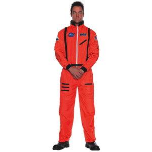 宇宙飛行士 コスチューム コスプレ 大人男性用衣装 オレンジ