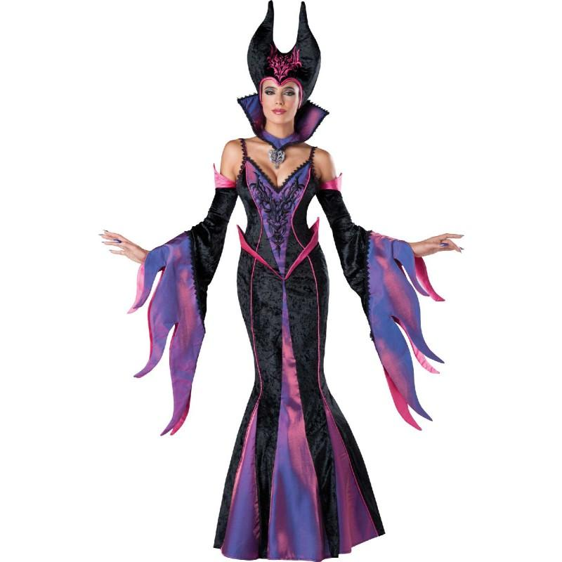 ハロウィン マレフィセント コスチューム 仮装 ディズニー ヴィランズ 眠れる森の美女 コスプレ 衣装 ダークな魔女 魔法使い 大人用 あす楽