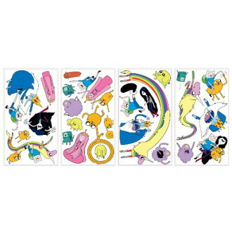 Adventure Time 2 TV Anime Cartoon Network Decoration Wall Sticker Roommate Character Seals