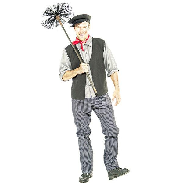 バート 煙突掃除人 コスチューム 大人 男性 ハロウィン 衣装 コスプレ メリー・ポピンズ 煙突 メアリーポピンズ あす楽
