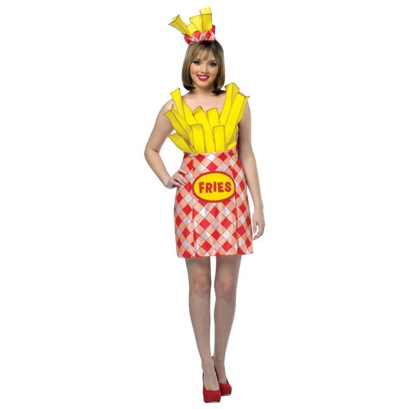 フライドポテト 大人 女性 コスチューム ハロウィン 衣装 食べ物 揚げ物 フライド ポテト あす楽