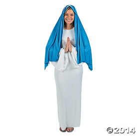 聖母 マリヤ マリア クリスマス 劇 コスプレ 衣装 大人用 イエス キリスト 降誕 クリスチャン 聖書 クリスマスイブ ペイジェント