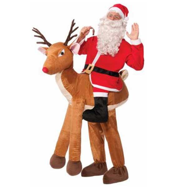 ハロウィン サンタ コスプレ 大人 おもしろい コスチューム トナカイに乗ったサンタクロースの衣装