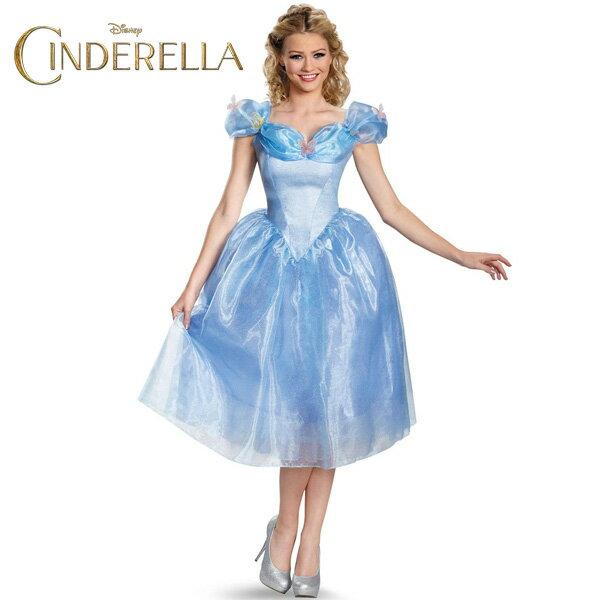 ハロウィン シンデレラ コスプレ コスチューム ドレス 大人 女性用 ディズニー 公式ライセンス 衣装
