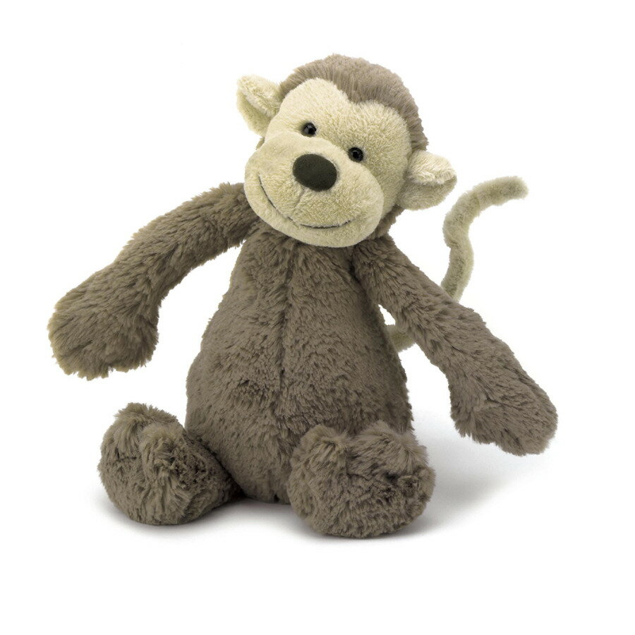 Jellycat ジェリーキャット 正規品 バシュフル 猿 さる サル モンキー ぬいぐるみ Mサイズ 動物 人形 おもちゃ 海外 セレブ 出産祝い 赤ちゃん 幼児 プレゼント あす楽
