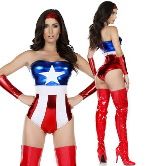 Enchanted sexy hero champion American adult women costume cosplay Halloween party Christmas feast of presentation