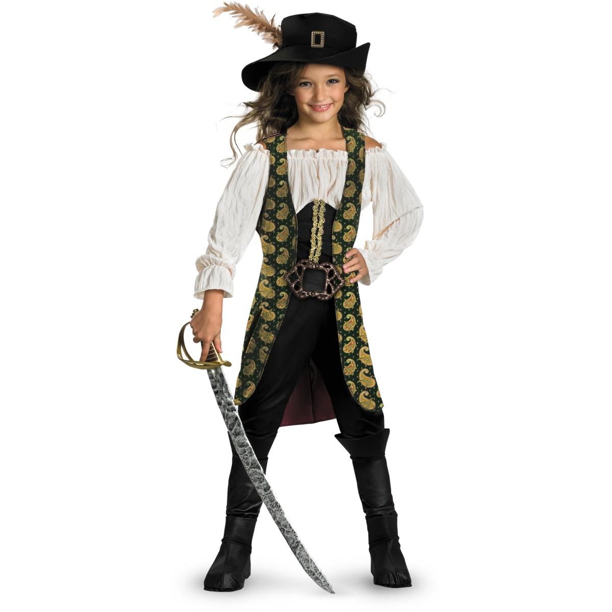 パイレーツ・オブ・カリビアン コスプレ 子供 アンジェリカ 女の子 海賊 衣装 コスチューム パイレーツオブカリビアン