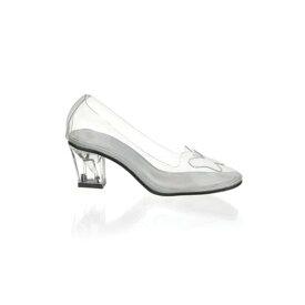 シンデレラ ガラスの靴風 レディース コスプレ グッズ 大人 女性用 シューズ