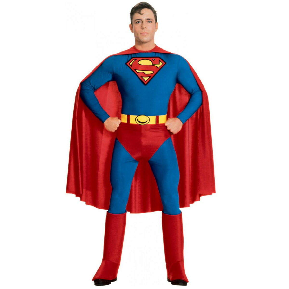 ハロウィン スーパーマン コスプレ コスチューム 大人 男性用 映画 ヒーロー キャラクター 衣装 スーツ あす楽