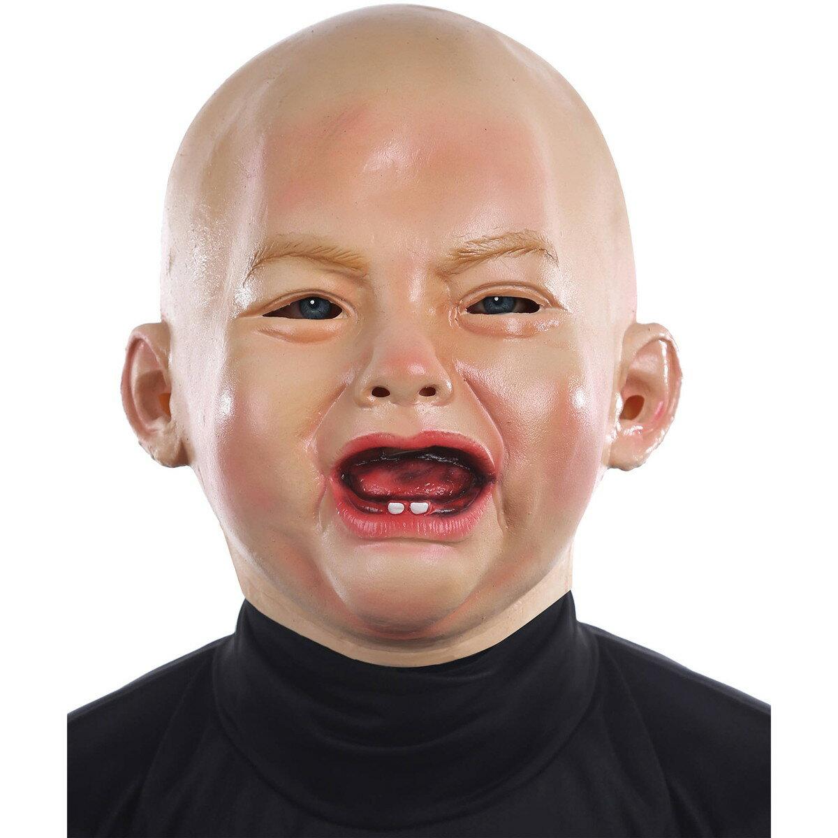 リアル赤ちゃん 泣き顔マスク 大人用 ベビーマスク 変装 コスプレ ハロウィン 仮装 おもしろ グッズ あす楽