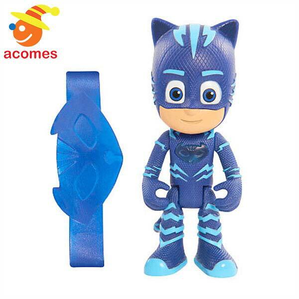 パジャマスク コナー キャットボーイ 7.6cm ライトアップ フィギュア 人形 青 ブルー ネコ 子供 おもちゃ ギフト プレゼント
