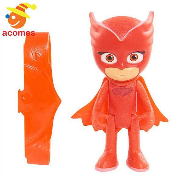 パジャマスク アマヤ アウレット 7.6cm ライトアップ フィギュア 人形 桃 ピンク フクロウ 子供 おもちゃ ギフト プレゼント