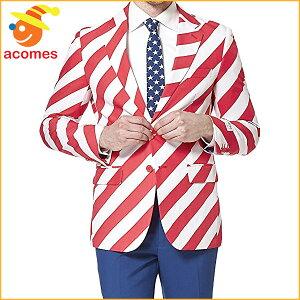 派手スーツオッポスーツアメリカユナイテッドストライプ衣装大人用パーティーイベント出し物芸人舞台ジョーク目立つ学祭OPPOSUITS