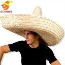 大きな ソンブレロ メキシカン 帽子 コスプレ 小物 大人用 アミーゴ 麦わら フィエスタ