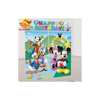 Wall decoration Mickey Mouse birthday wall decorations room interior poster  wall paper birthday party event