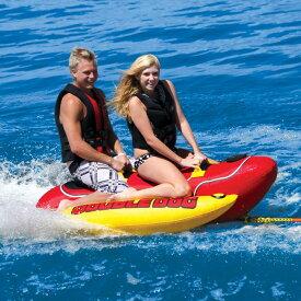 AIRHEAD トーイングチューブ ホットドッグ Double Dog 2 2人乗り ジェットスキー マリンスポーツ 複数 グループ 海 おもちゃ ボート フロート グッズ