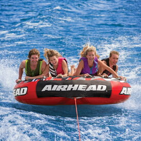 AIRHEAD トーイングチューブ Mega Slice 4人乗り ジェットスキー マリンスポーツ 複数 グループ 海 おもちゃ ボート フロート グッズ