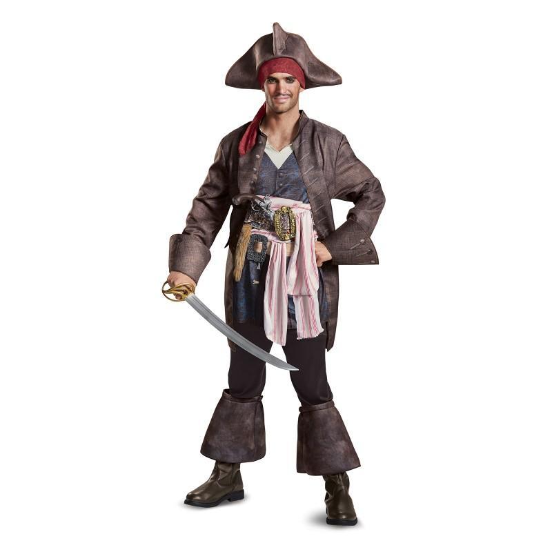 ハロウィン パイレーツ・オブ・カリビアン 最後の海賊 グッズ ジャックスパロウ コスチューム デラックス版 海賊 帽子 コスプレ 仮装 大人 メンズ