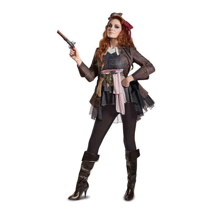 ハロウィン パイレーツ・オブ・カリビアン 最後の海賊 グッズ ジャックスパロウ コスチューム デラックス 海賊 帽子 コスプレ 仮装 大人 レディース あす楽