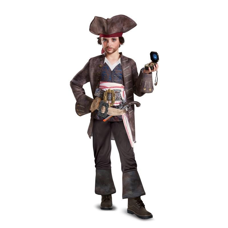 ハロウィン パイレーツ・オブ・カリビアン 最後の海賊 グッズ ジャックスパロウ コスチューム デラックス版 海賊 帽子 コスプレ 仮装 子供 キッズ あす楽