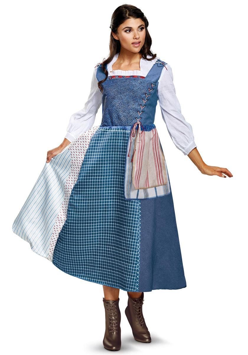 ディズニー コスチューム 大人 美女と野獣 ベル 青い 服 ワンピース コスプレ 仮装 女性