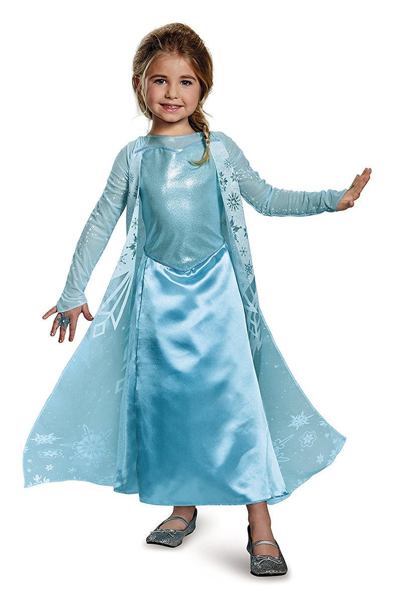 ディズニー コスチューム 子供 アナと雪の女王 エルサ ドレス 衣装 指輪 セット 幼児 コスプレ 仮装 キッズ