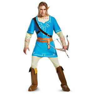 ゼルダの伝説 ブレス オブ ザ ワイルド リンク コスチューム 衣装 青 大人 コスプレ 仮装 ゲーム キャラクター テレビゲーム