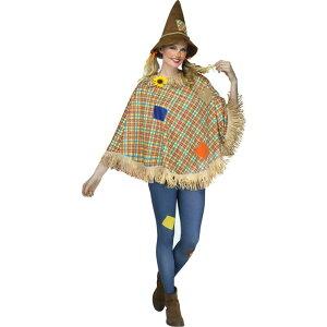 かかし コスプレ ポンチョ 案山子 仮装 ハロウィン オズの魔法使い イベント パーティー