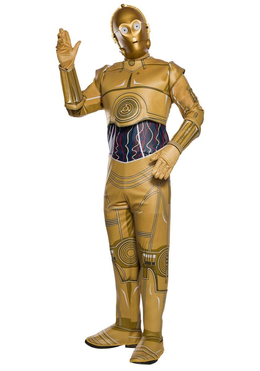 スター ウォーズ C-3PO コスプレ 大人 コスチューム ハロウィン 衣装 ロボット イベント 仮装 パーティー