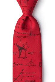 おもしろ ネクタイ 数学 数式 グッズ マイクロファイバー 赤 ユニーク グッズ